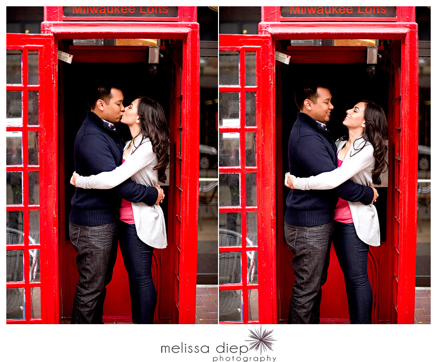 chicago fun engagement session photo booth
