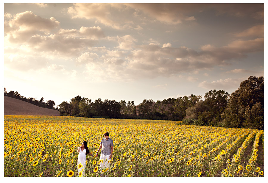 wedding vows renewal in tuscany, italy