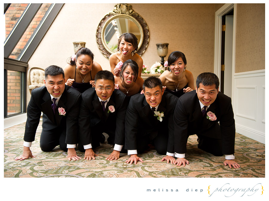 wedding party pyramid