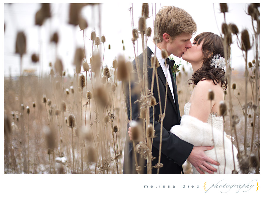 chicago winter snow wedding