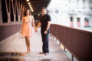 chicago river engagement pictures