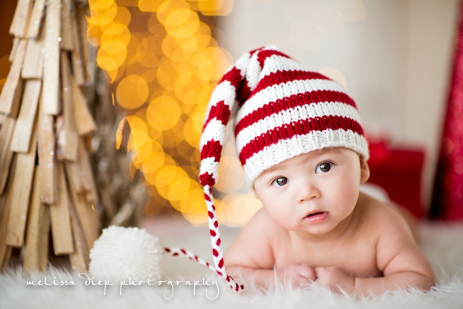 unique baby infant newborn christmas holiday picture photo ideas