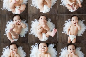 baby, cupid, unique, valentine's day, photo, ideas, cute, funny, baby, eating, feet, sucking