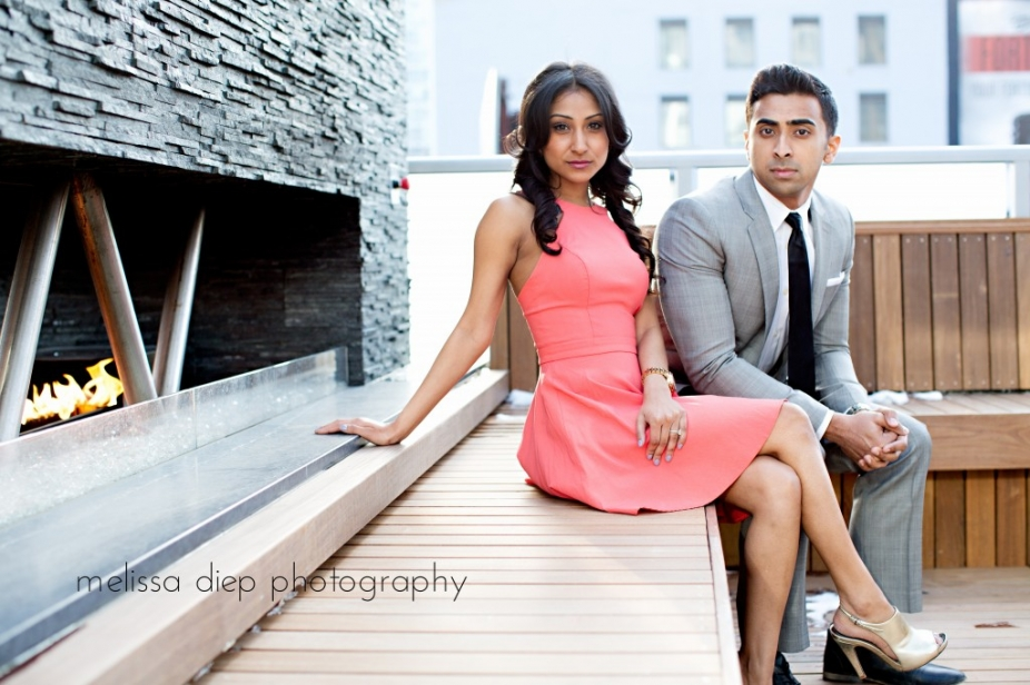 engagement session held at the brand spanking new godfrey hotel in chicago