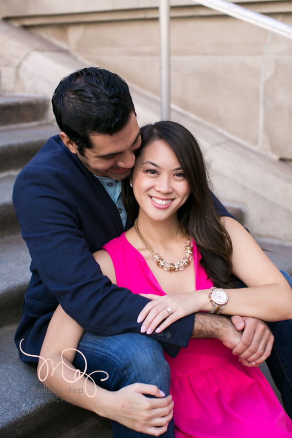 chicago river walk engagement pictures