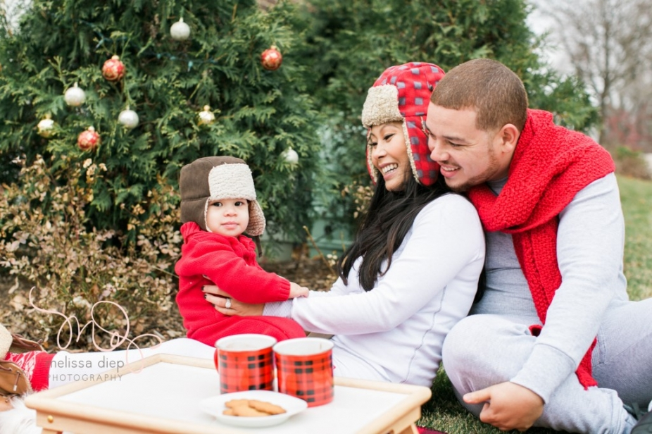 unique family christmas outdoor christmas photo ideas-4