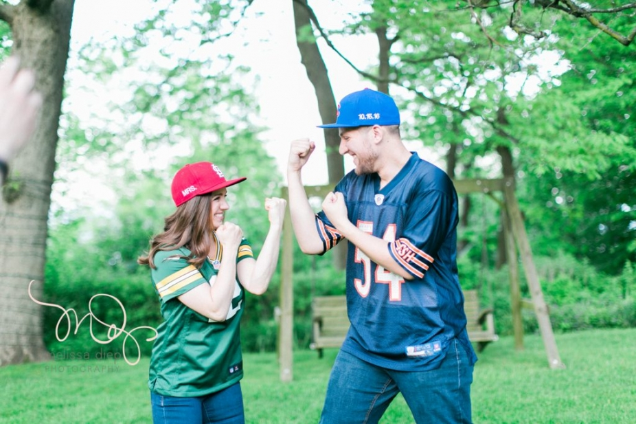 rival teams engagement photo