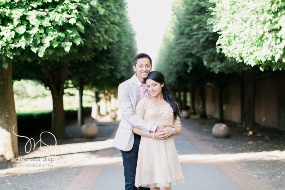 romantic fun indian engagement pictures at chicago botanic garden